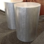 Aluminum Side Tables with Rivets. Design and Fabrication by Michelle de la Vega and Jeff Ludwig