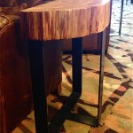 Side Table Bases for Sundance Cinemas, Seattle, with Coyote Woodshop